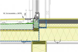 Barrierefreier Zugang zur Dachterrasse in Holzbauweise im Detail