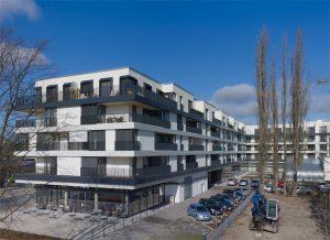 Hoffassade Johanniter-Quartier in Potsdam. Foto: Stefan Müller, Berlin