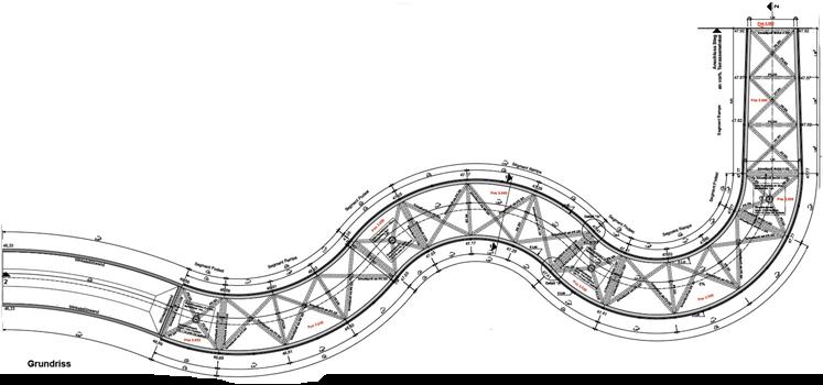 Die Rampe im Detail als Zeichnung