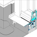 Schwellenlose Lösung mit Magnetdichtungen und Entwässerung für trockene Bauteile