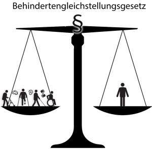Waage Behindertengleichstellungsrechts