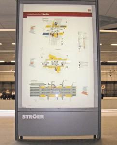 Ausstattungs- und Möblierungselemente: orientierungstafel Hbf Berlin