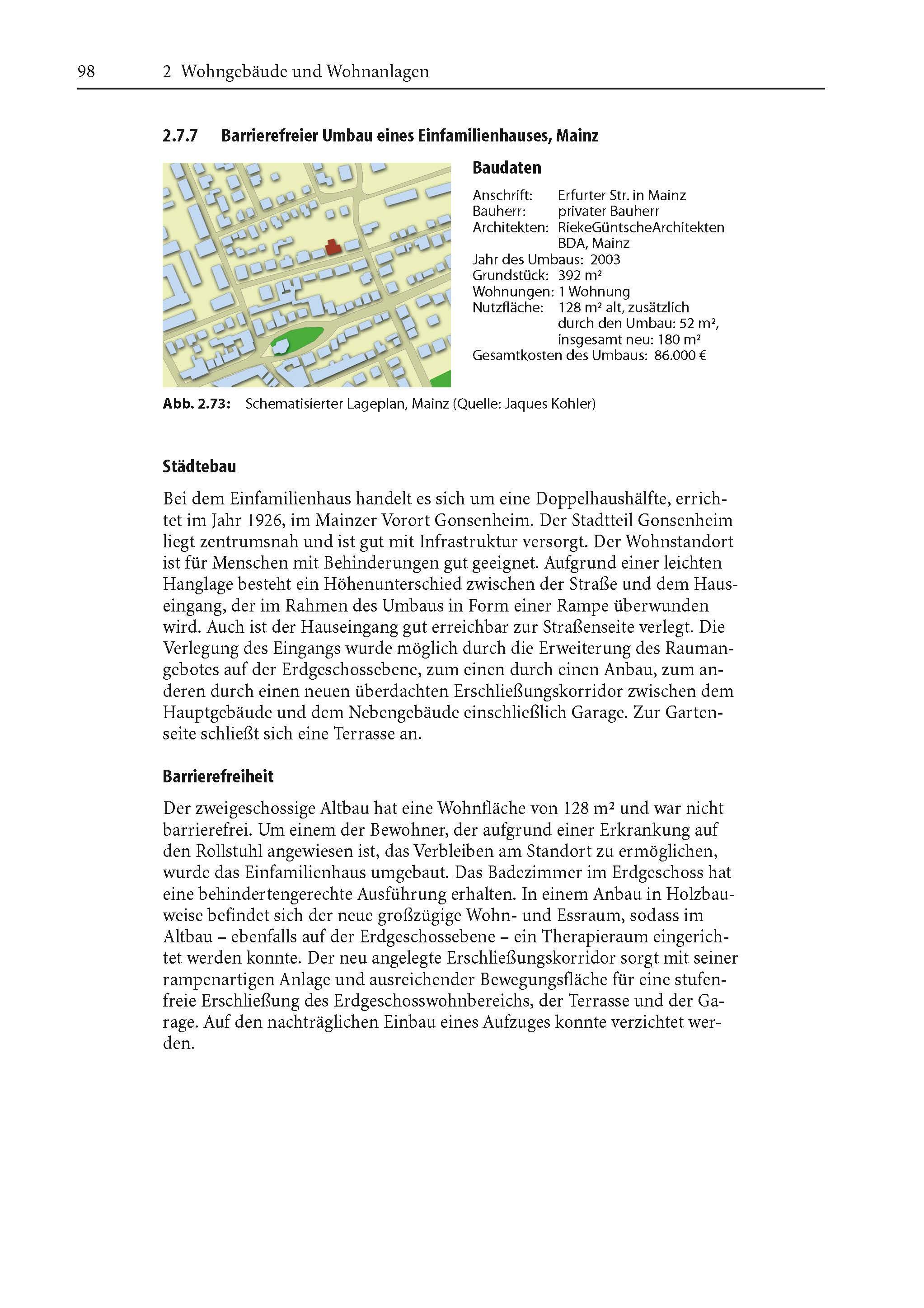 """Auszug aus """"Handbuch barrierefreies Bauen"""""""